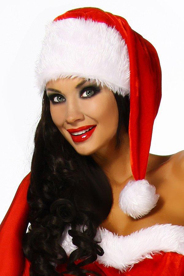 Weihnachtsmütze rot/weiß