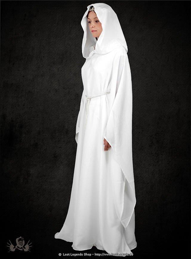 Weiße LARP Robe