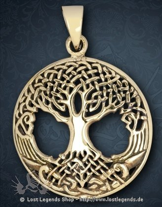 Weltenbaum Anhänger, Bronze