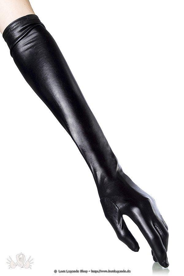 Wetlook-Handschuhe schwarz