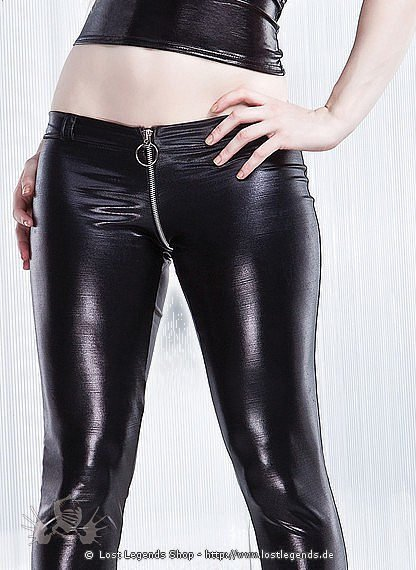 Wetlook Leggings Zip-Trough