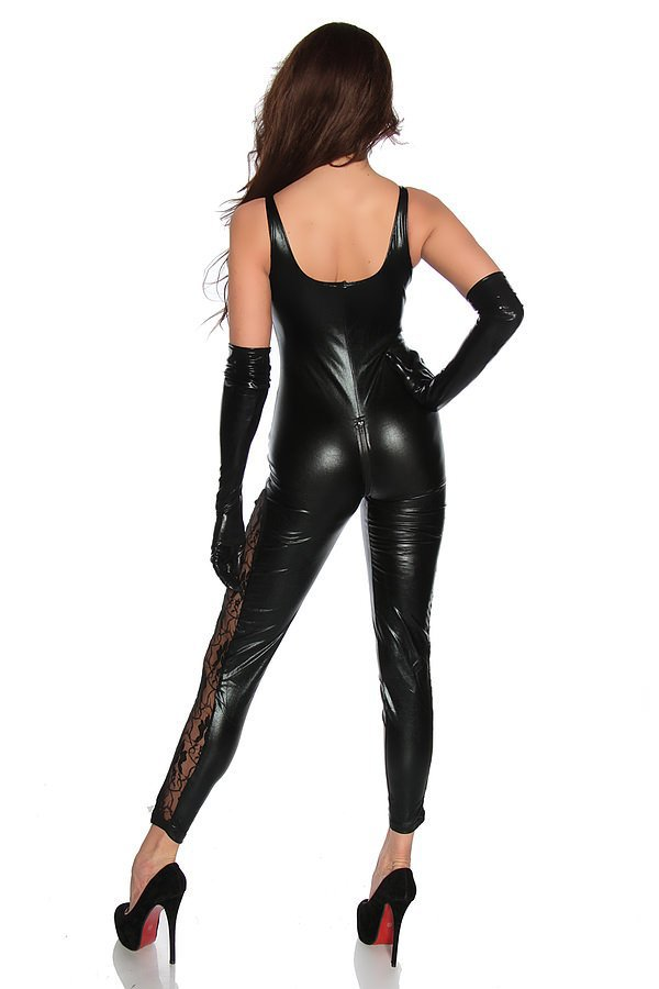 Wetlook-Overall schwarz