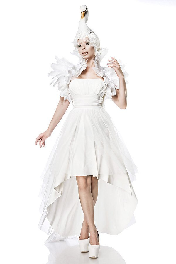 White Swan Kostümset weiß