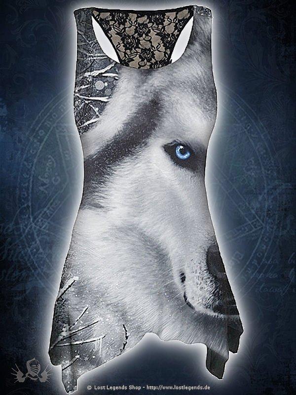 White Wolf AllOver Langshirt schwarz SPIRAL