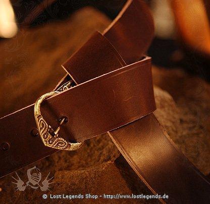 Wikinger Herrengürtel mit Ziernieten, Leder