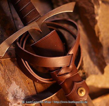 Wikinger Schwertgehänge Leder