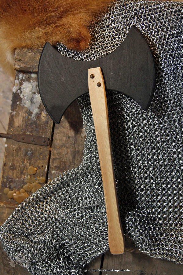 Wikingerbeil für Kinder Holz, 45 cm