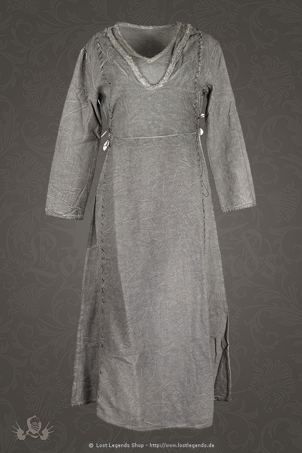 Mittelalterliches Damenkleid Laghertha, grau