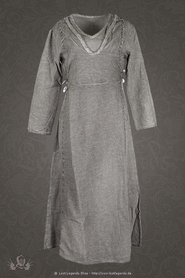 Medieval Womens Dress Laghertha, grey