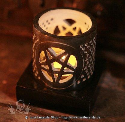 Windlicht Pentagramm