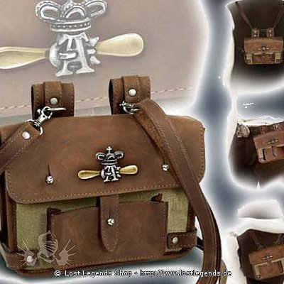 Wing-Commanders Attache Pouch Steampunk Ledertasche