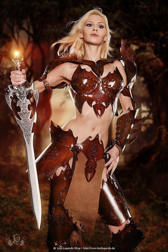 Witch Elf Armor Extended Larp Lederrüstung