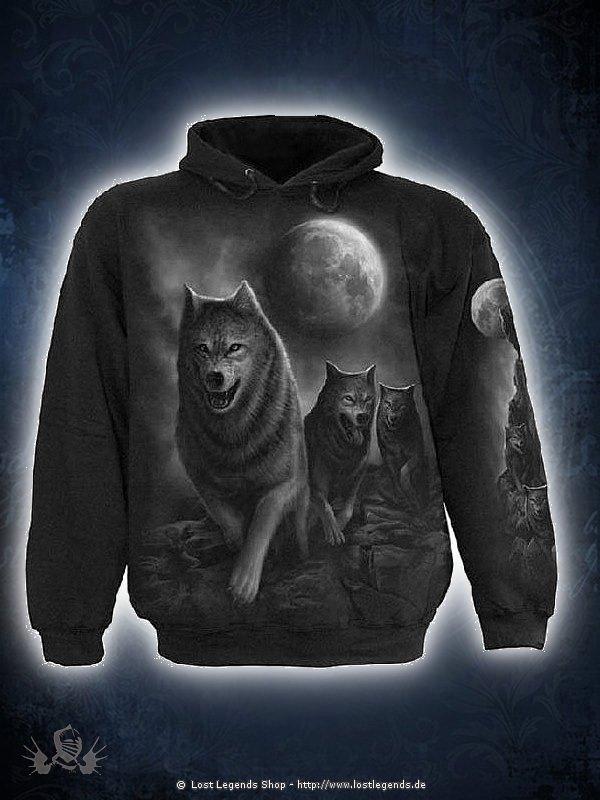 Wolf Pack Wrap Kapuzensweat schwarz SPIRAL