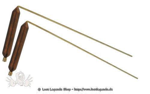 Wünschelrute Messing mit Kupfergriff klein