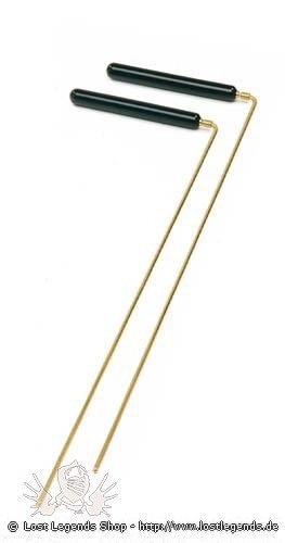 Wünschelrute mit Holzgriff, 38 cm
