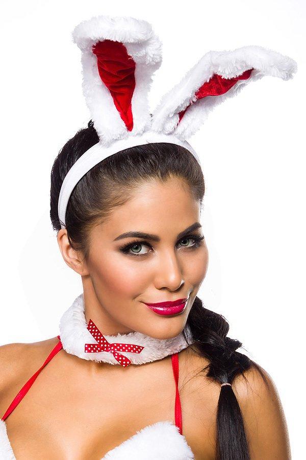 X-Mas Bunny rot/weiß