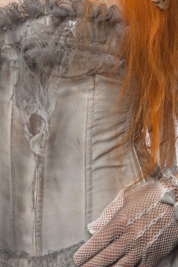 Zombie Bride  weiß/grau