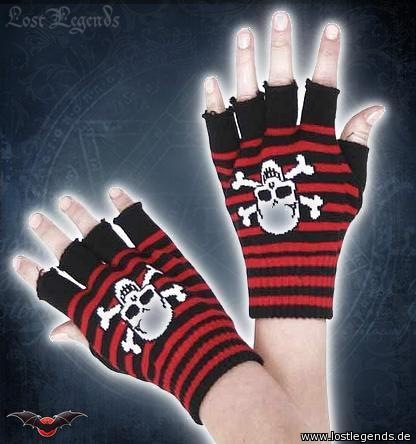 Fingerhandschuhe gestreift