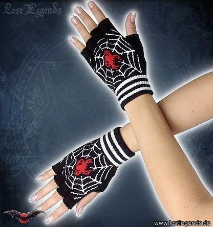 fingerlose Handschuhe  spider