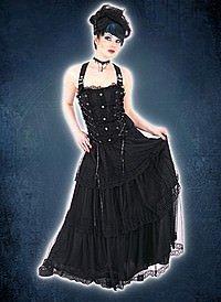 Aderlass Lolita Longdress Black Denim