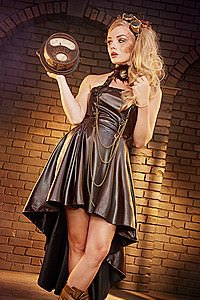 Aggy Halter Eyelet Steampunk Dress