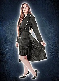 Ladies Gothic Tail Coat Wool