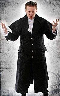 Dark Lord Gothic-Mantel, Brokat
