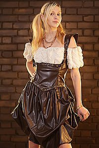 Golden Steam Underbust Steampunk Kleid