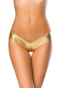 Metallic-Panty gold