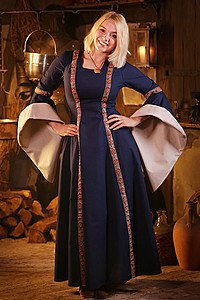 Medieval Dress Rahel, blue