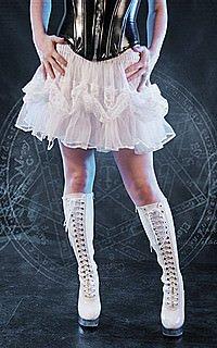 Gothic Frill Mini Skirt Tüll, Spitze