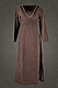 Medieval Womens Dress Laghertha, brown