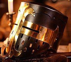 Mittelalter Rüstungen, Ritterhelme